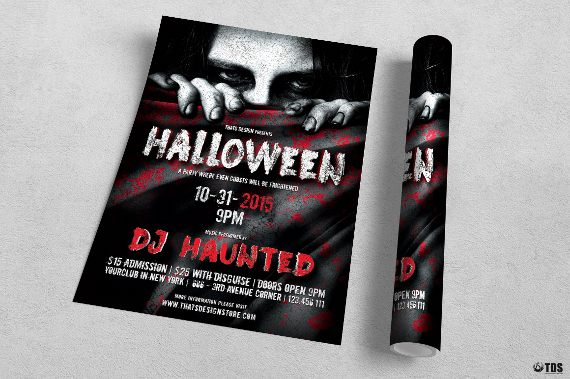 Halloween Flyer Template V5 example image 3