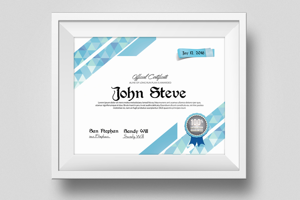 Certificate and Diploma Templates example image 1