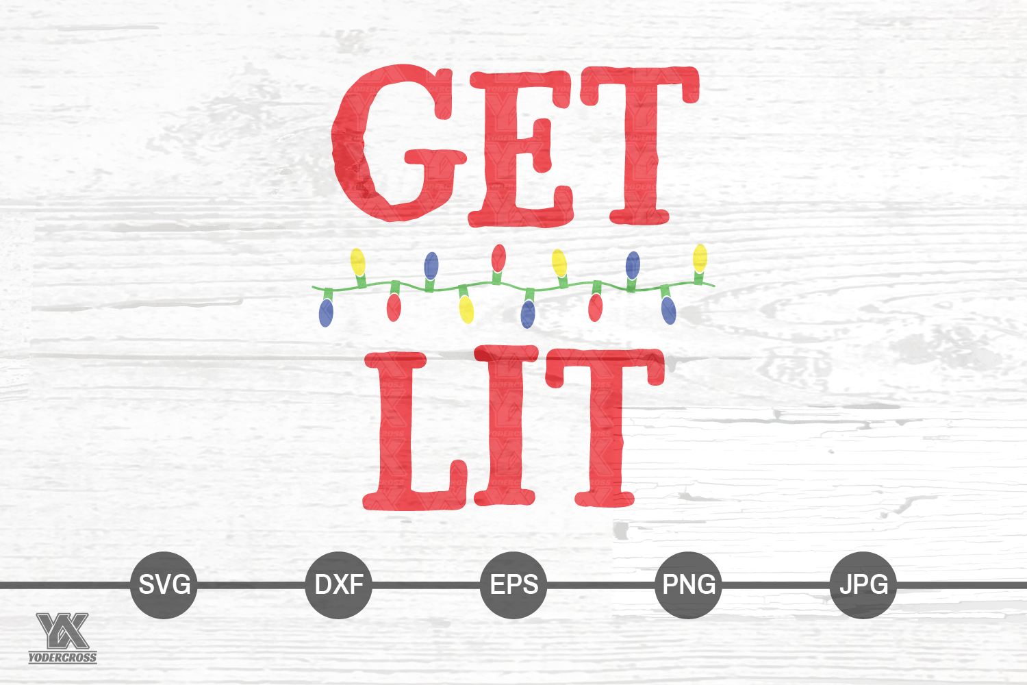 Get Lit Holiday SVG example image 4