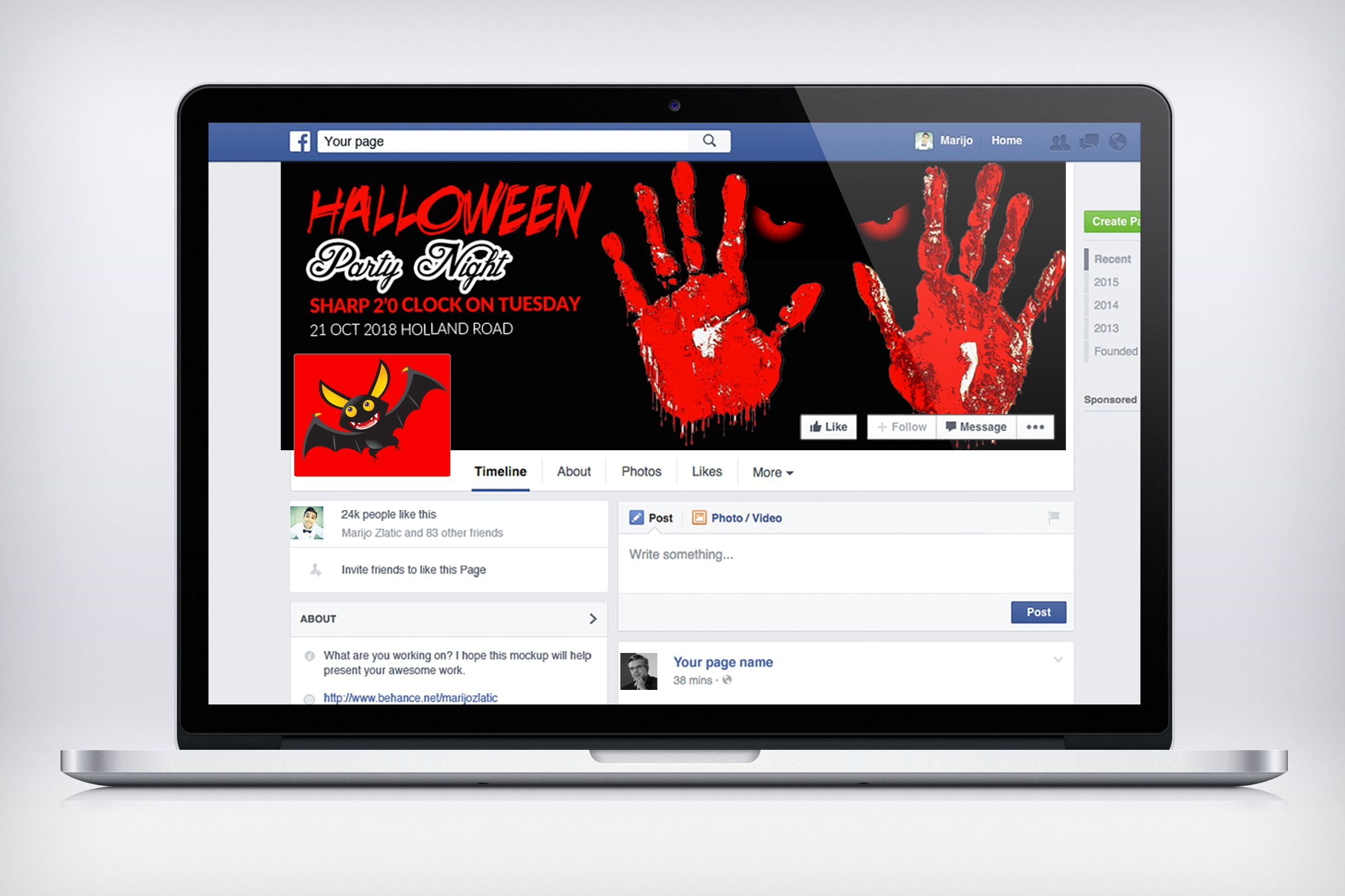 Halloween Party Night Facebook Timeline Cover example image 3