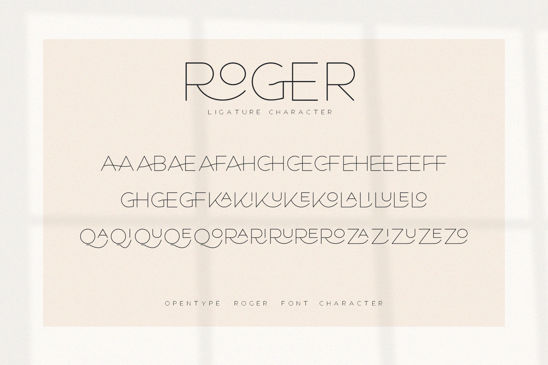 Roger - An Elegant Sans Serif example image 6