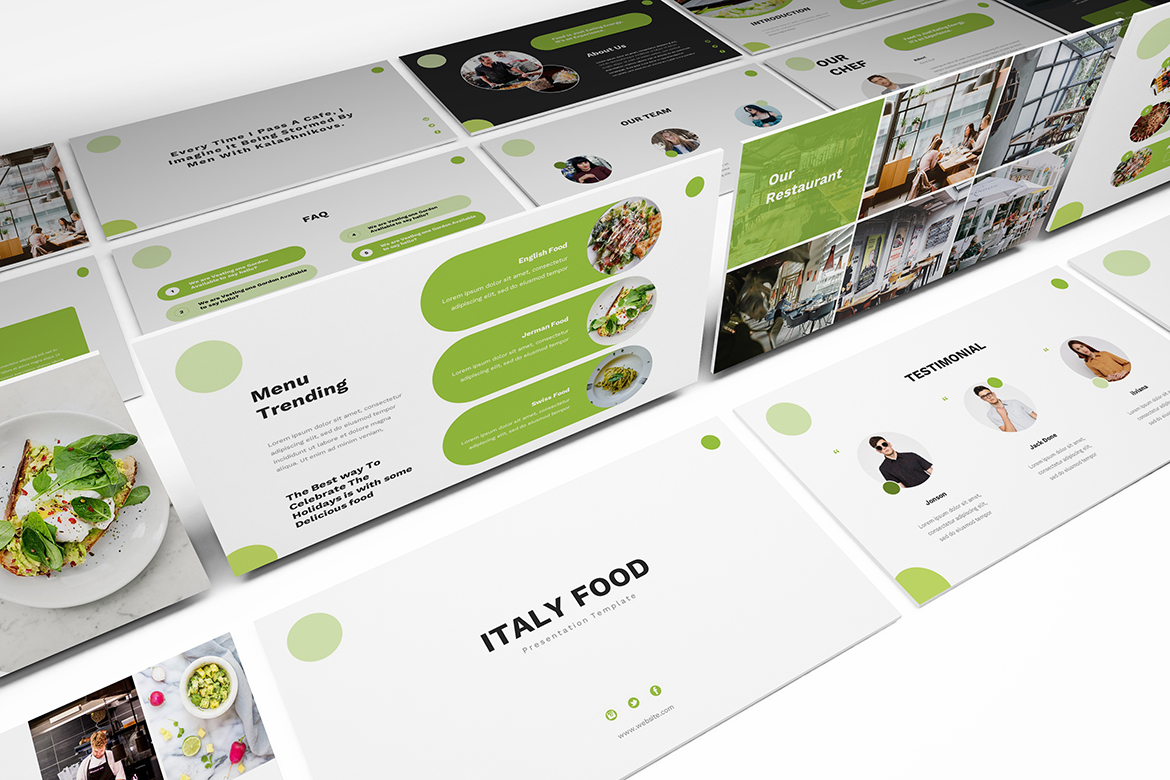 Food Powerpoint Template example image 1