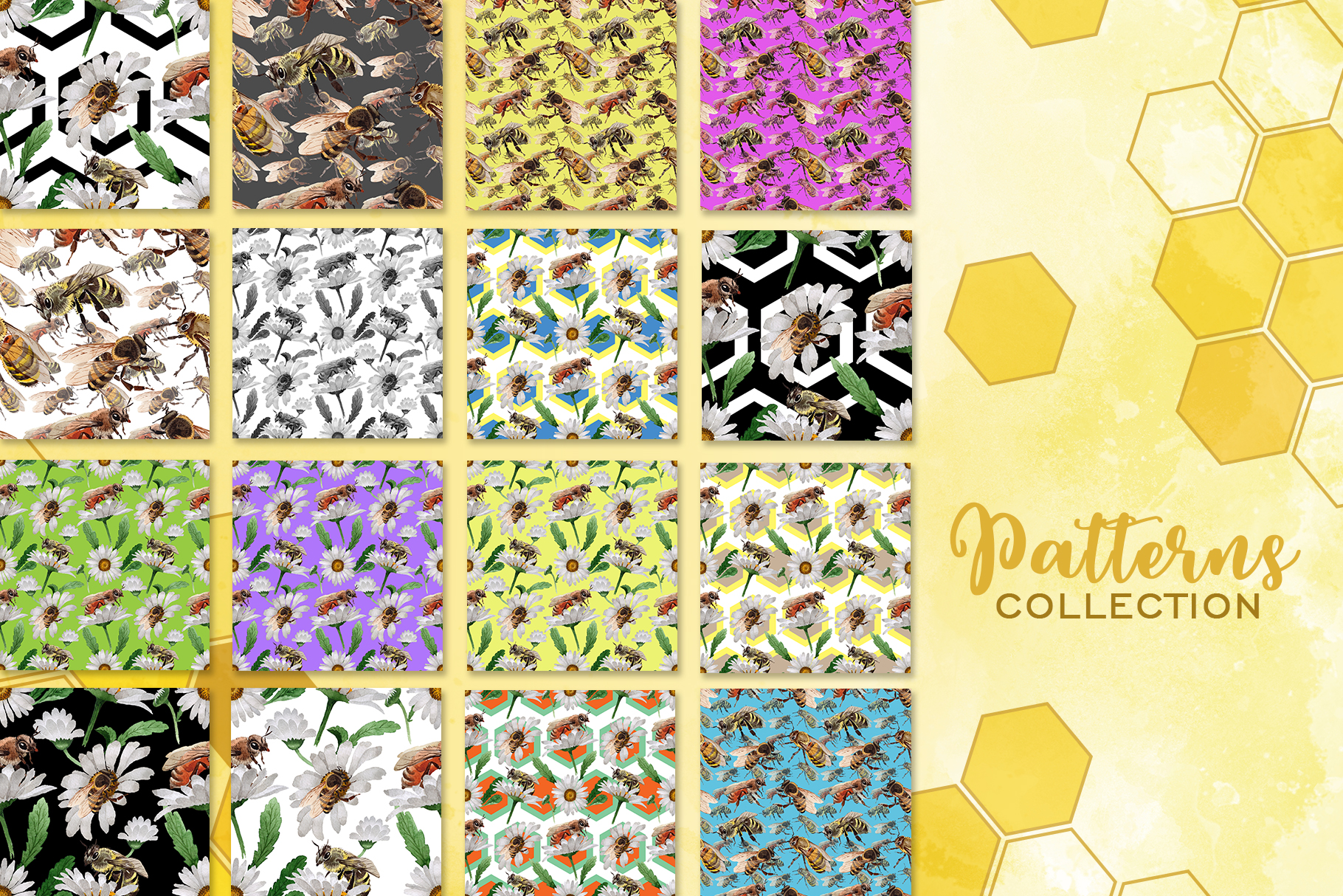 Bee Watercolor png example image 2