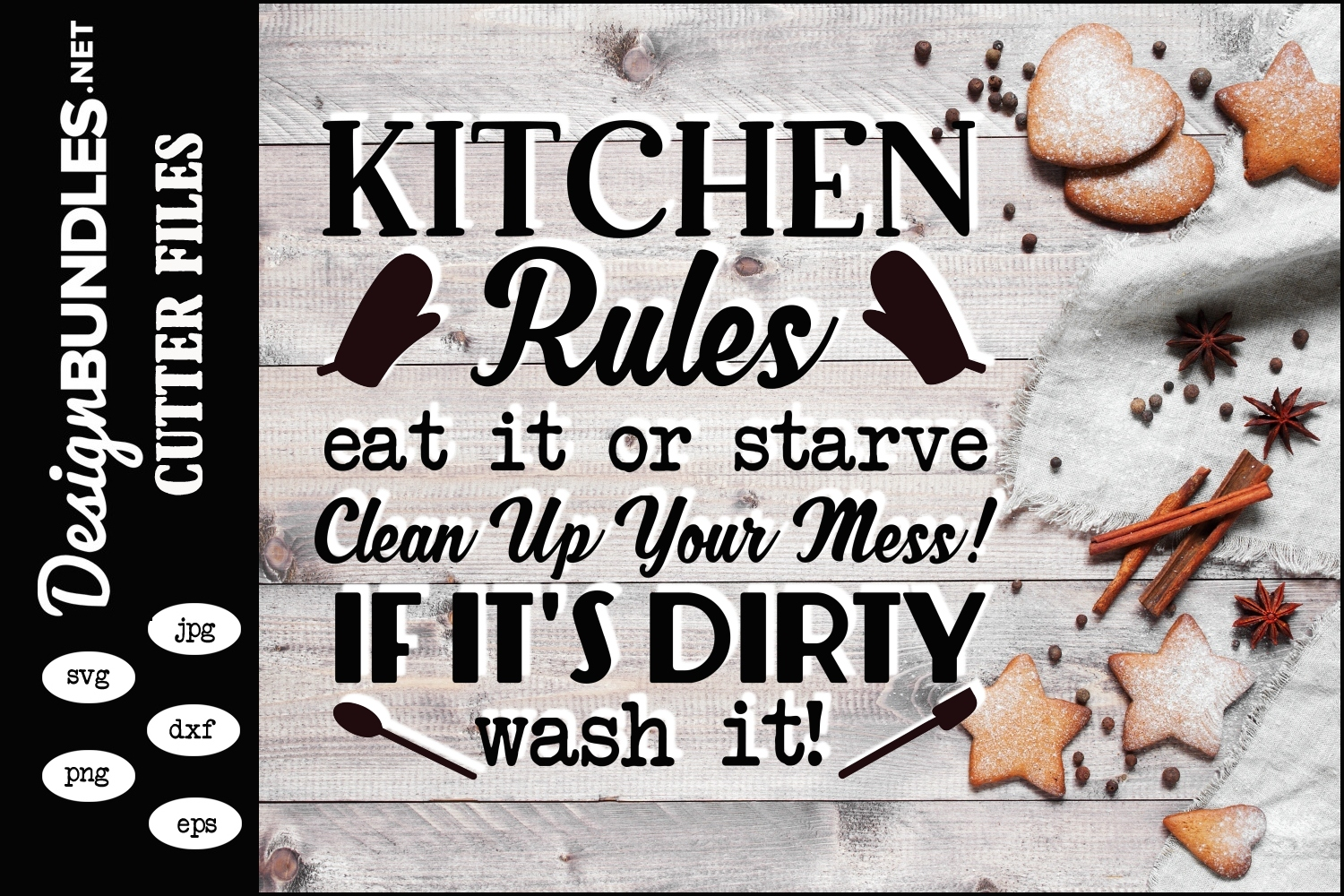 Kitchen Rules SVG example image 1