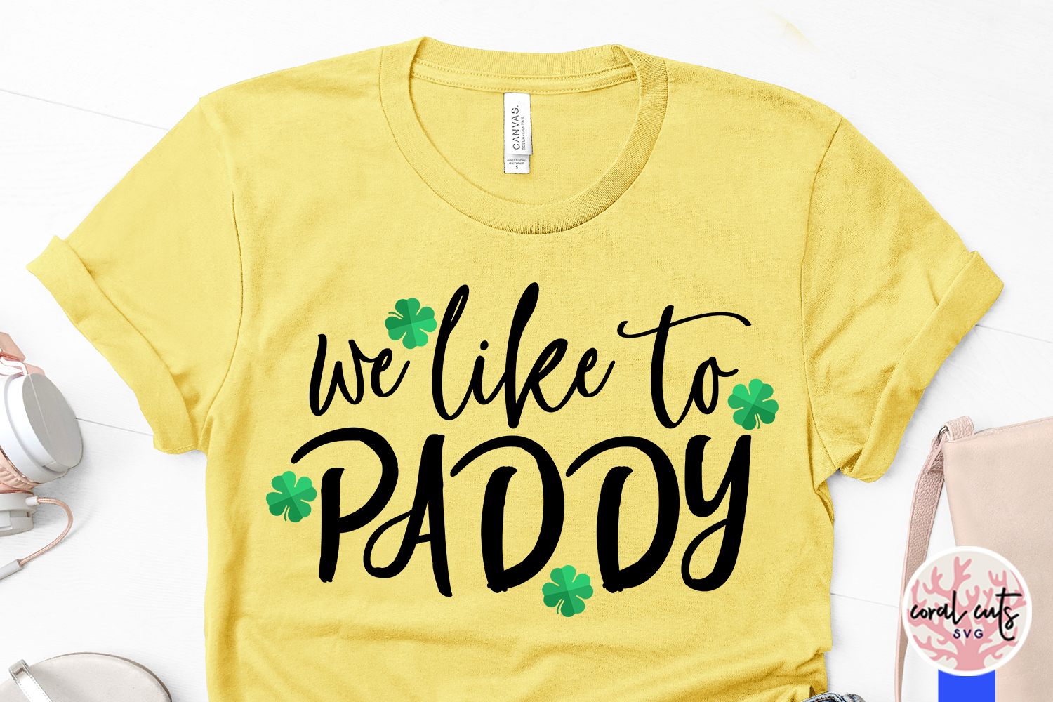 We like to paddy - St. Patrick's Day SVG EPS DXF PNG example image 3