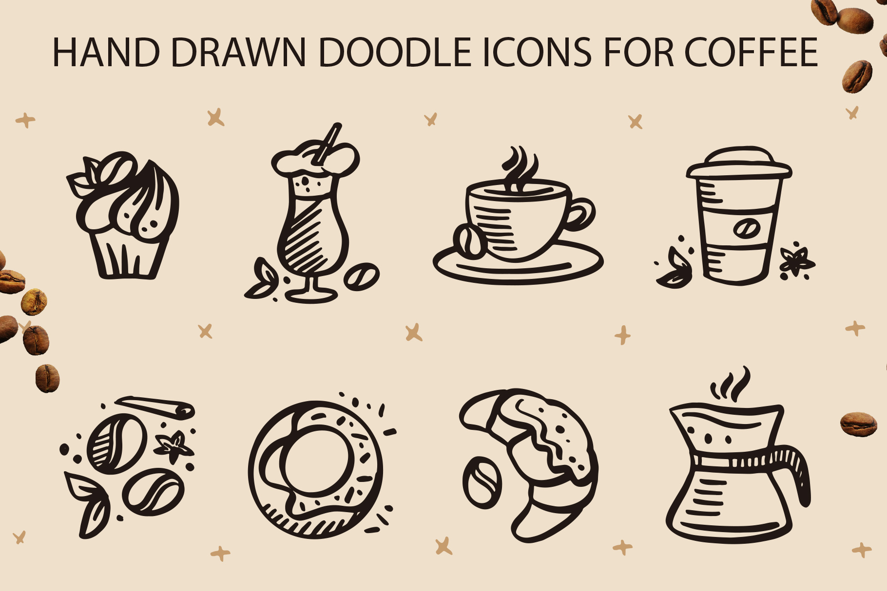 Coffee lettering clipart, vintage example image 5