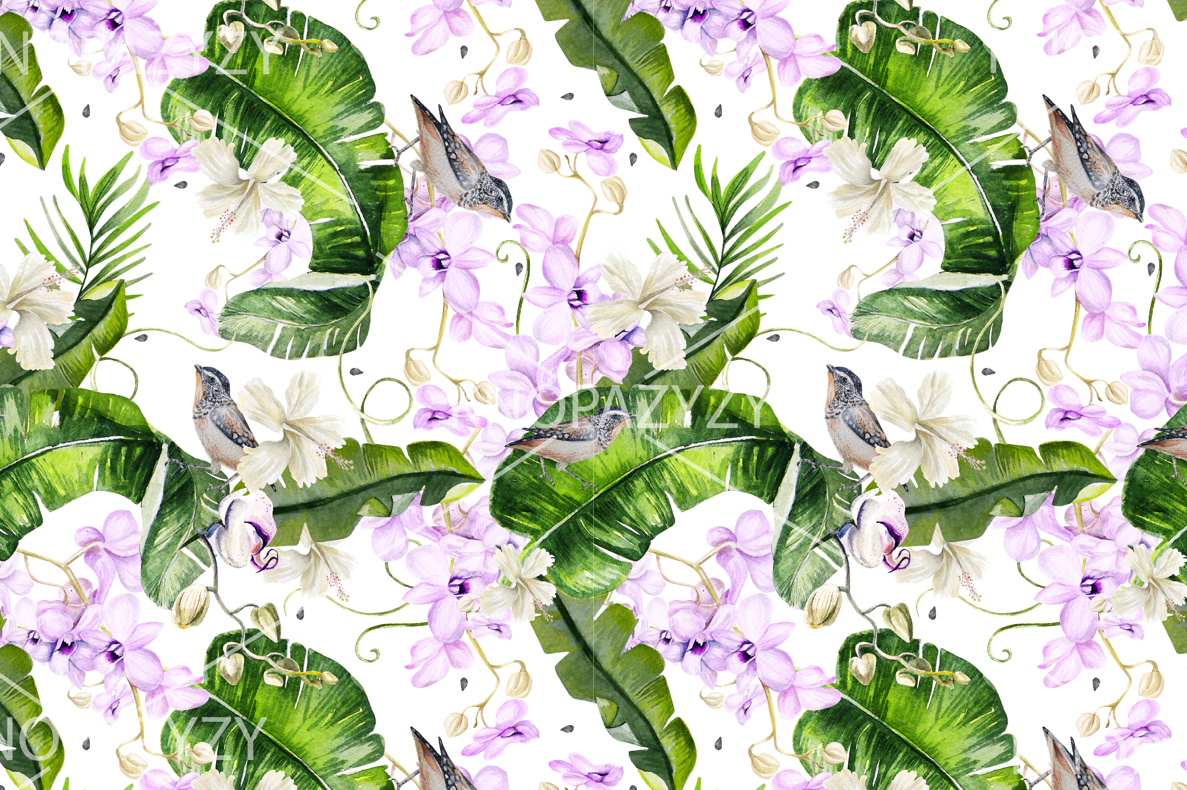16 Hand Drawn Watercolor Pattern example image 2