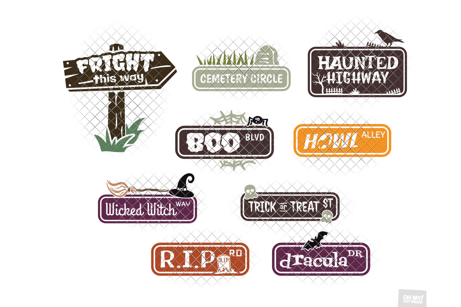 Halloween SVG Quotes & Phrases Bundle in SVG, DXF, PNG, EPS example image 9