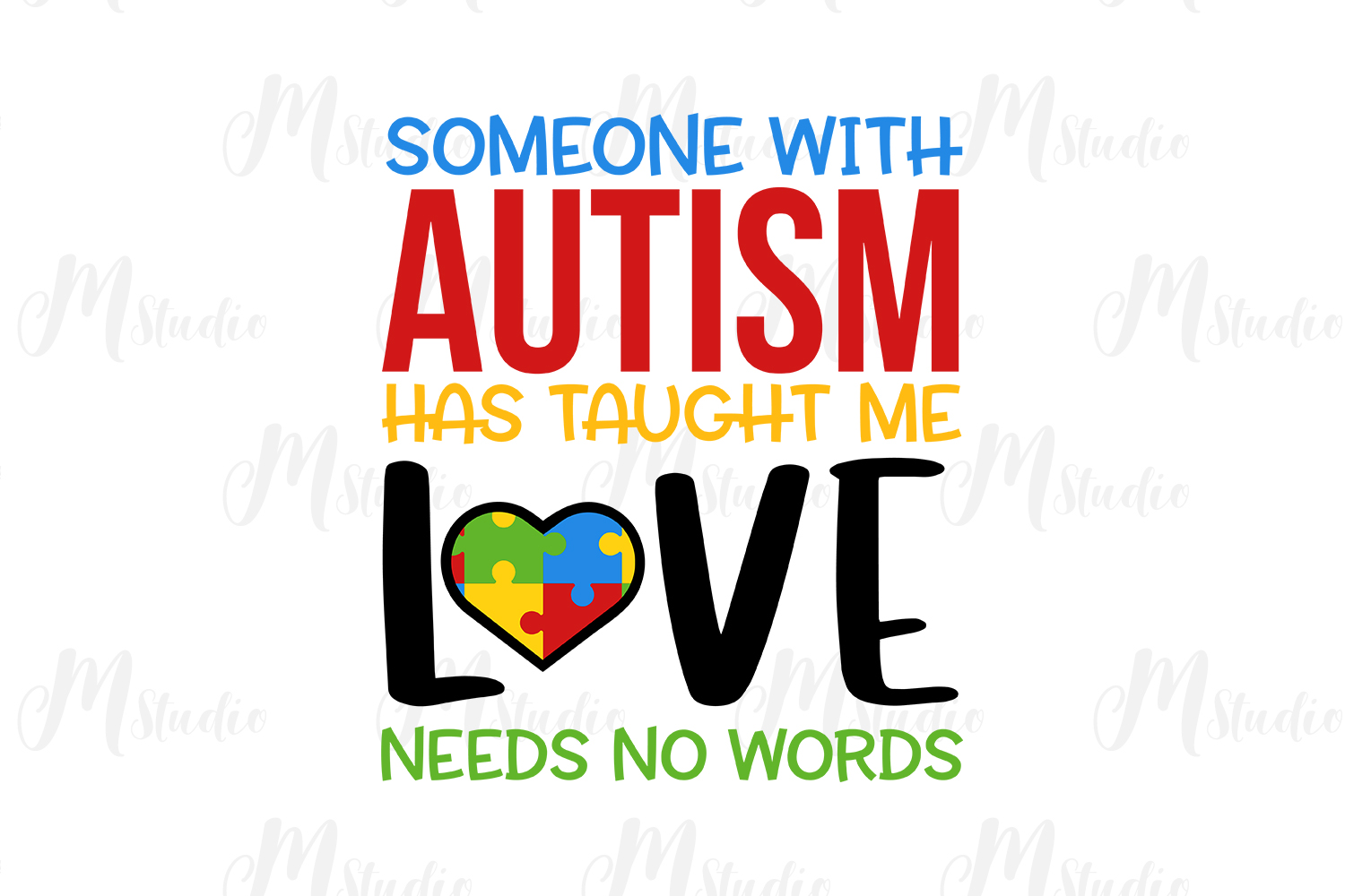 6b3fb76e230 Autism Quotes svg bundle example image 15