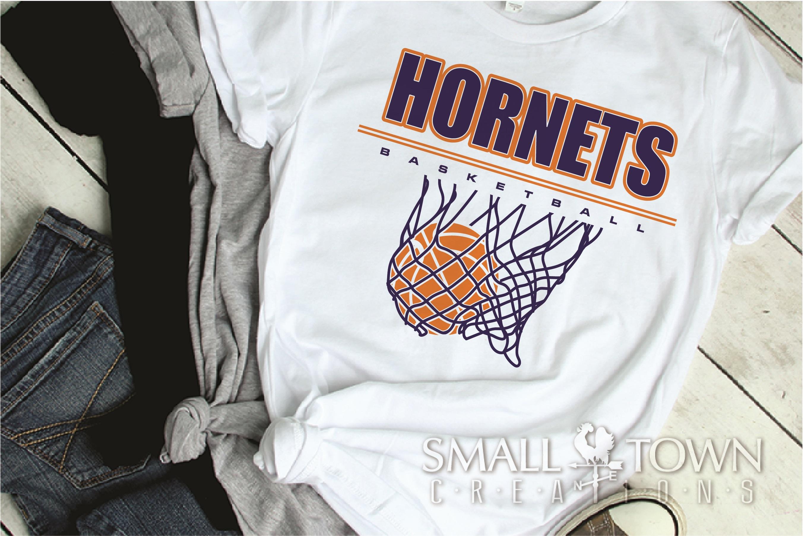 Hornet Basketball, Sport ball, team logo, PRINT, CUT, DESIGN example image 2