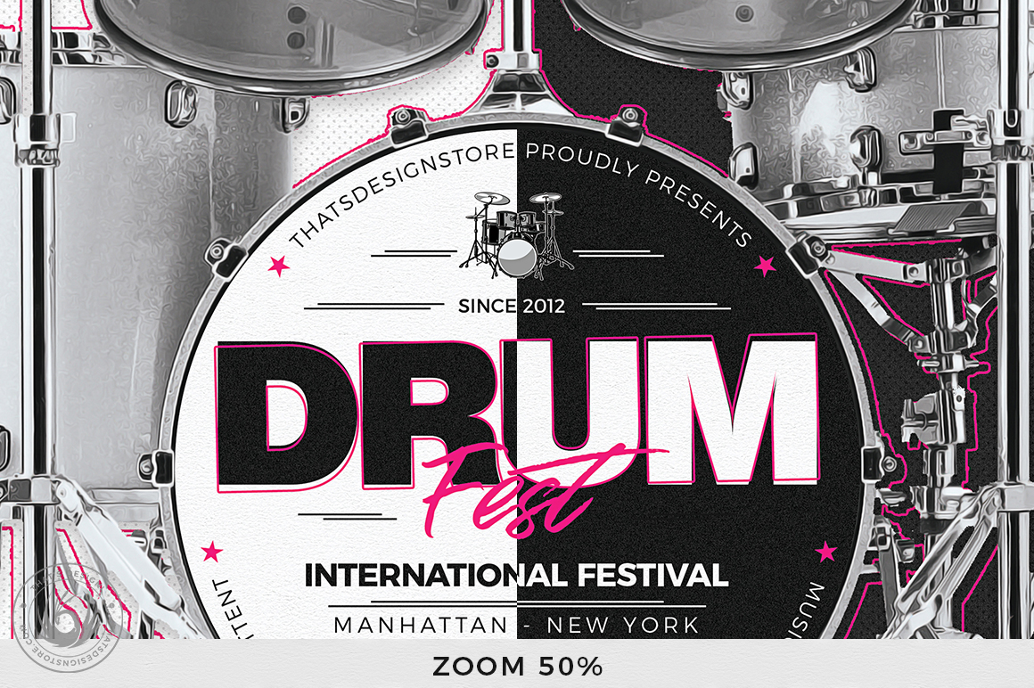 Drum Fest Flyer Template example image 7