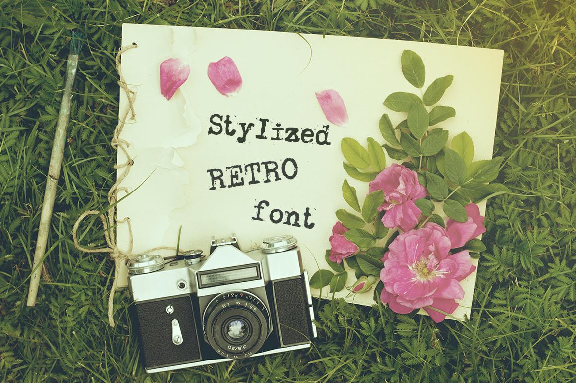 Old typewriter font example image 4