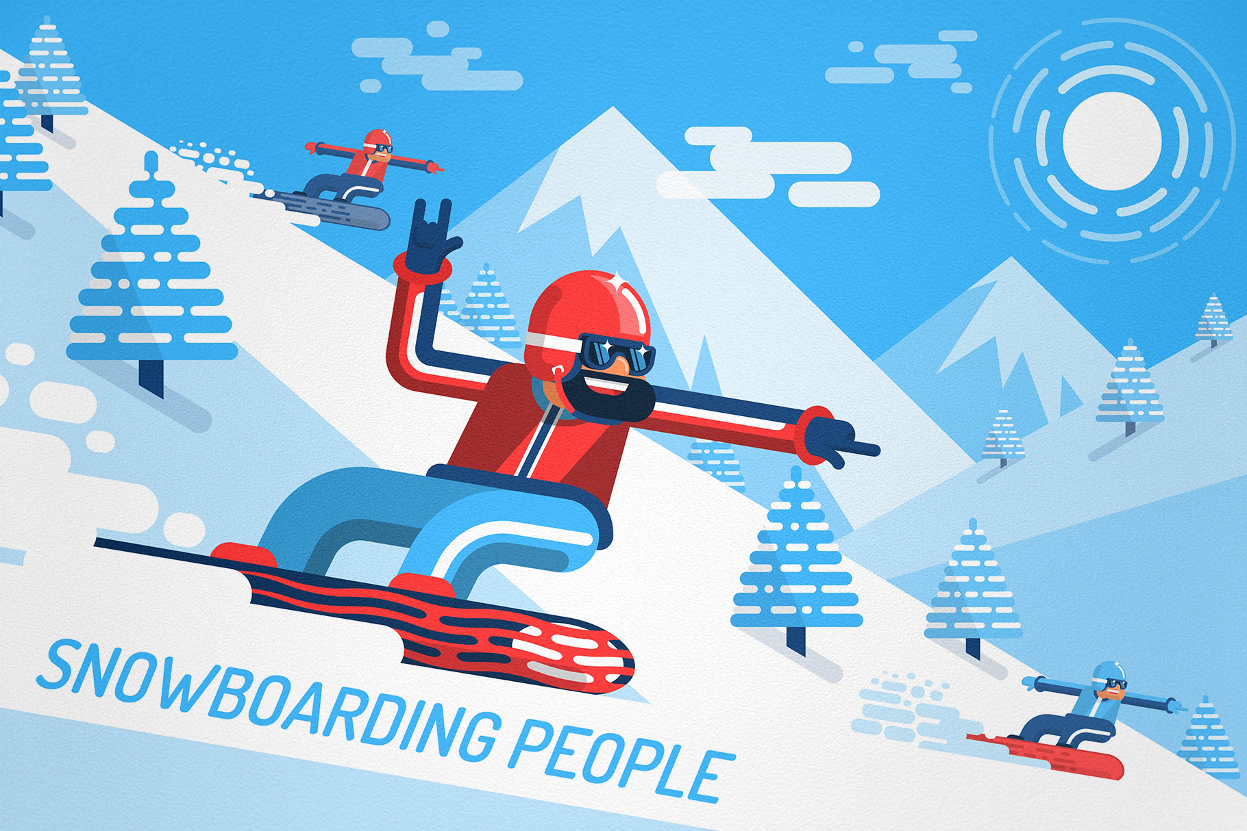 Snowboarding People example image 5