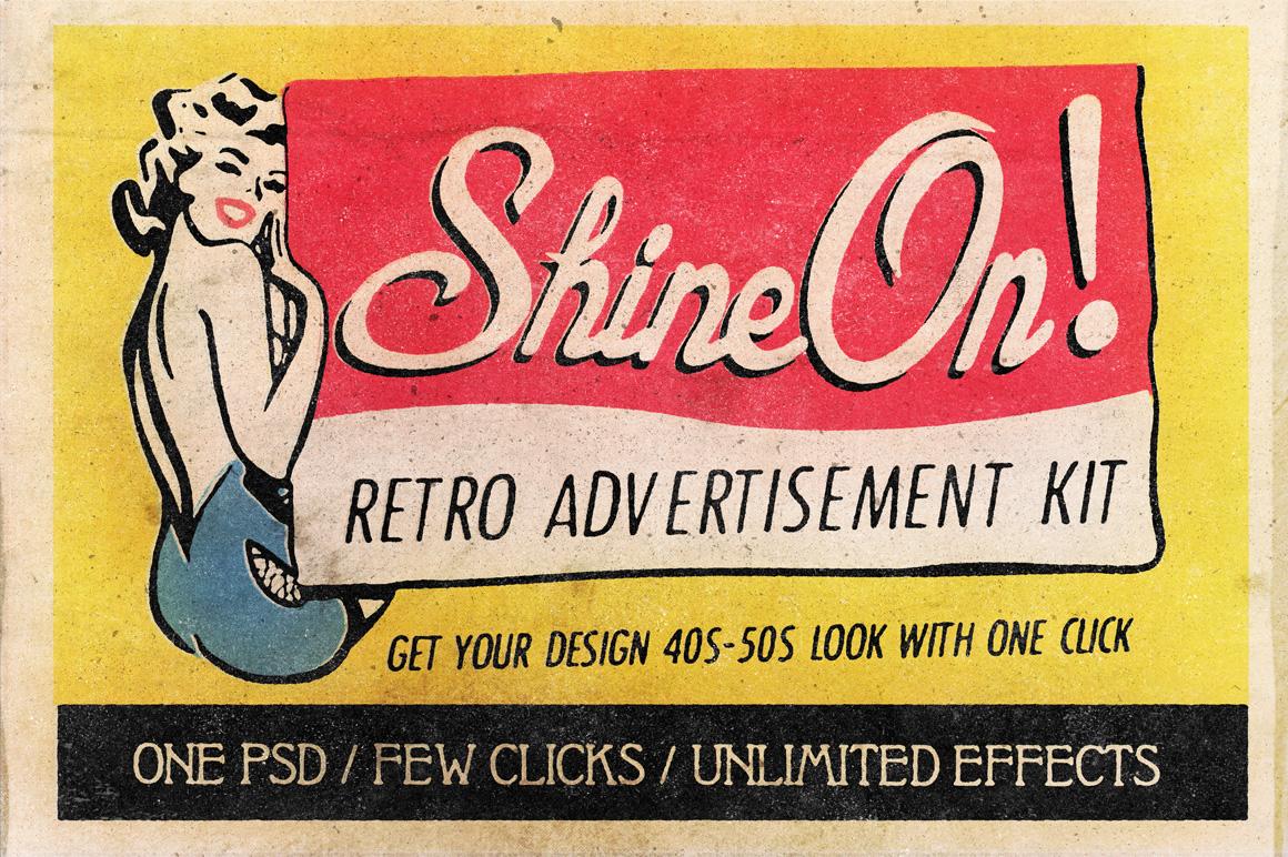 Shine On - Retro Advertisement Kit example image 1