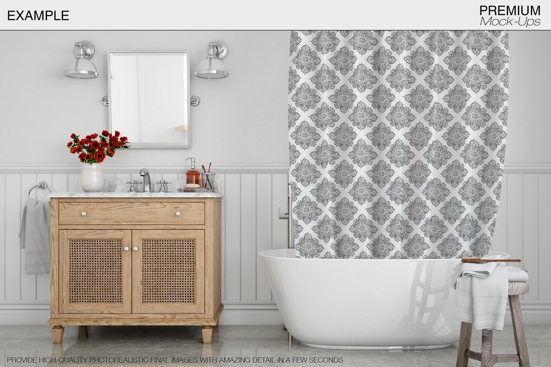 Bath Curtain Mockup Pack example image 18