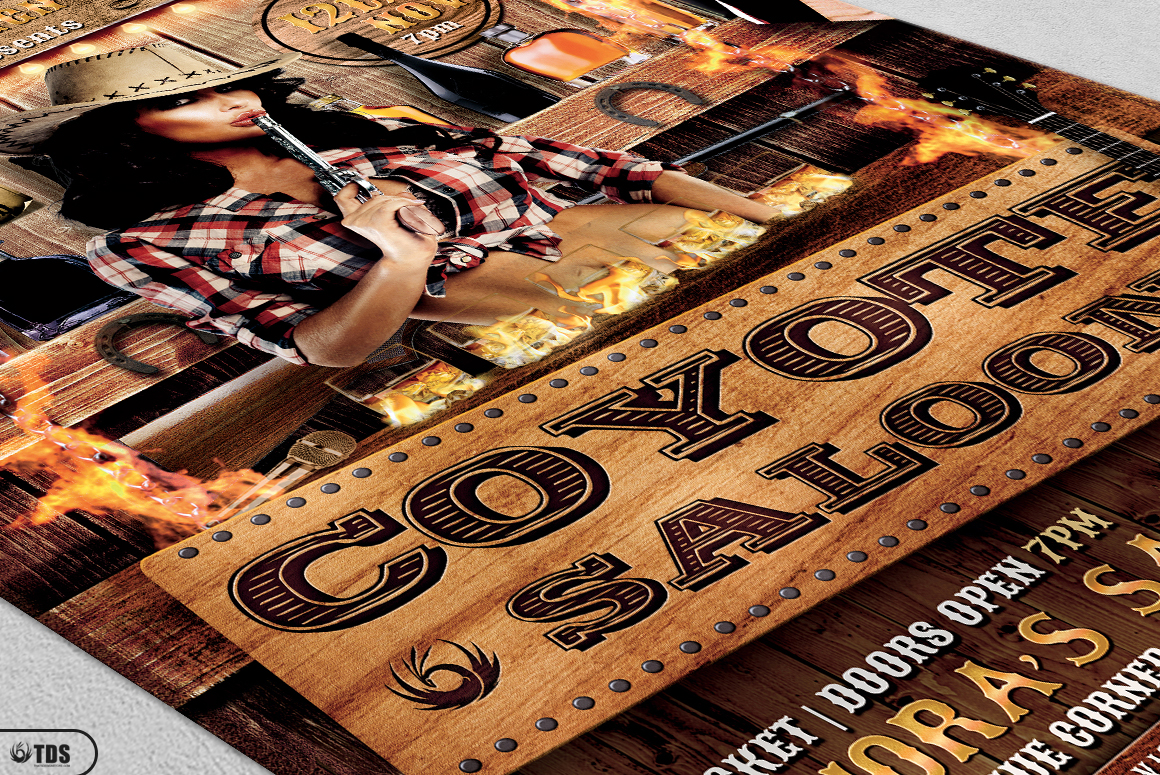 Coyote Bar Flyer Template example image 5