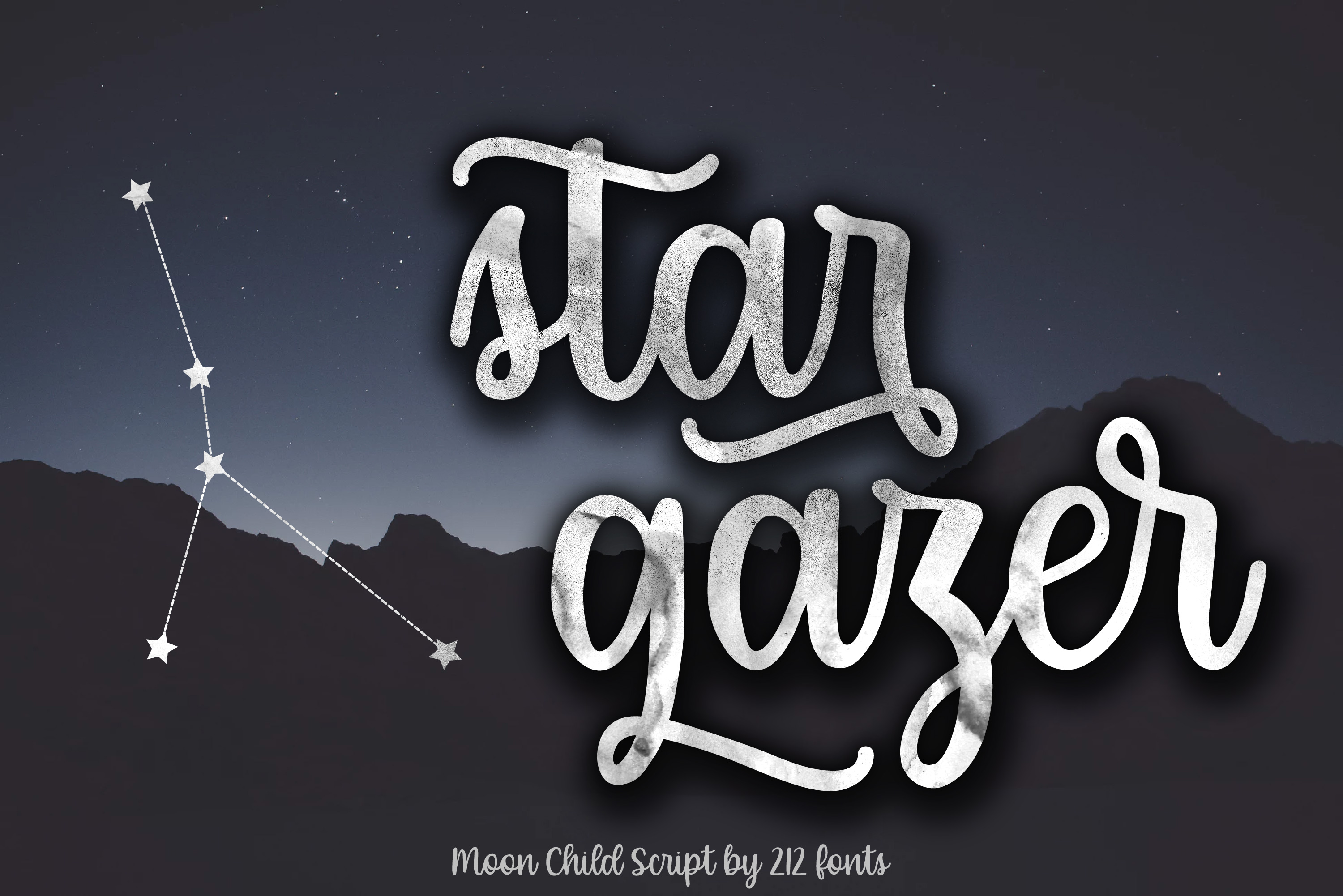 Moon Child Font Trio example image 10