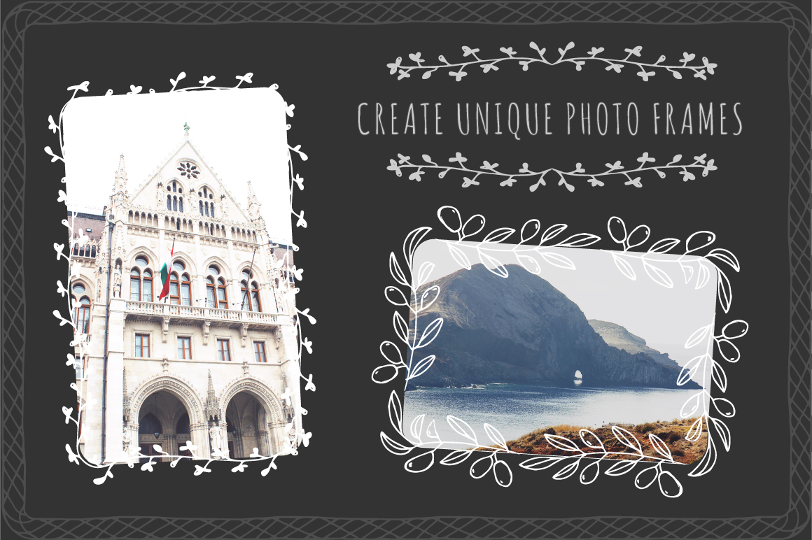 Hand drawn frames and borders example image 8