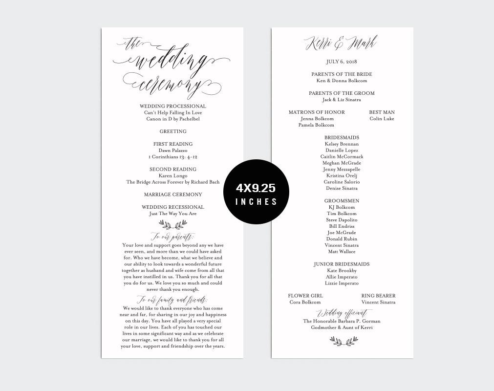 Wedding Program example image 2