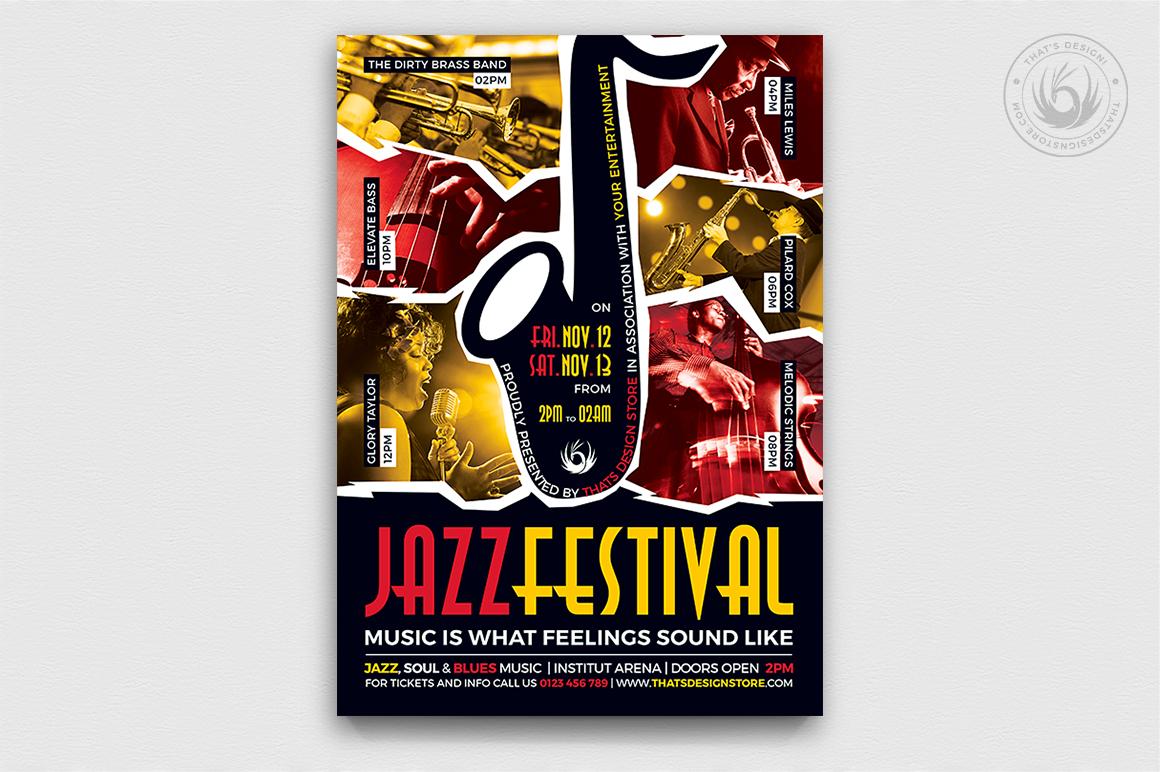 10 Jazz Festival Flyer Bundle example image 9