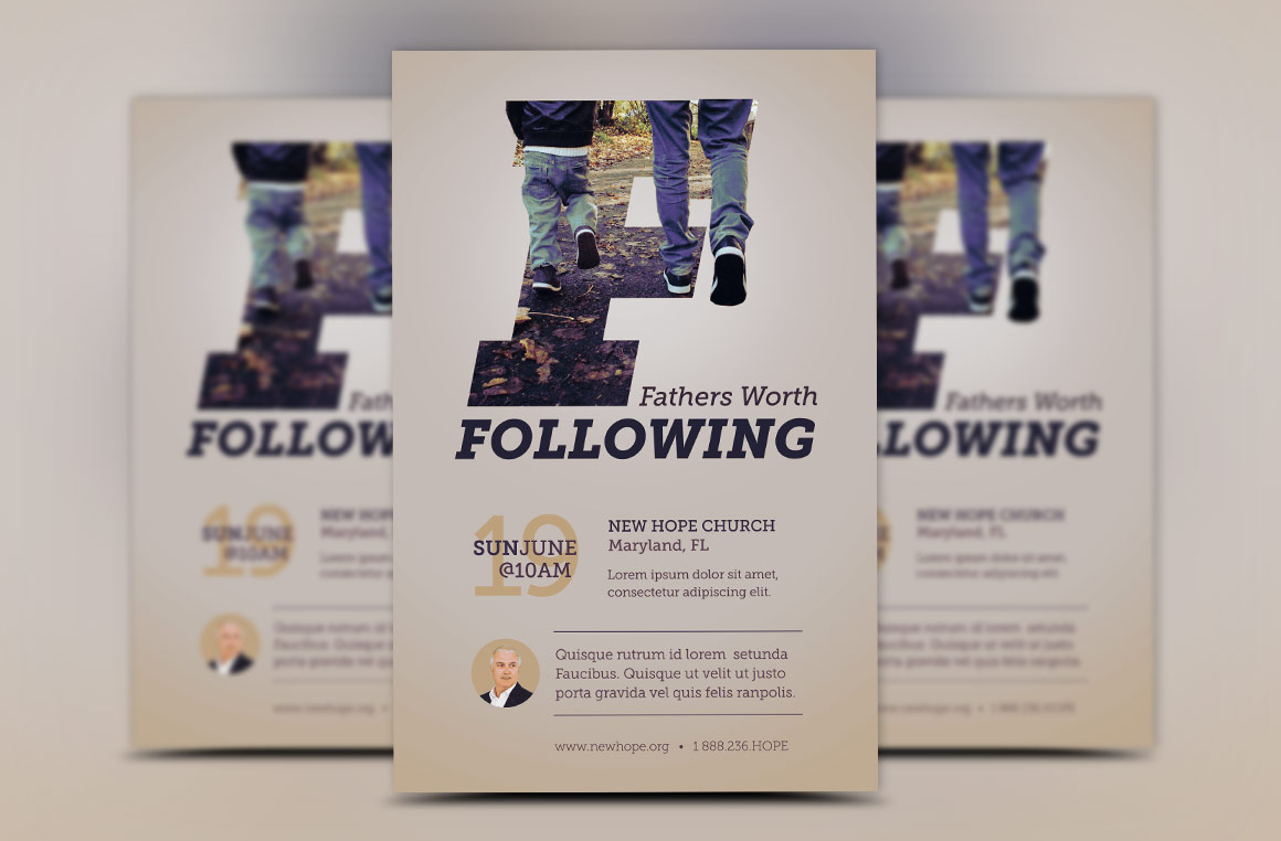 Fathers Worth Following Flyer Template example image 6