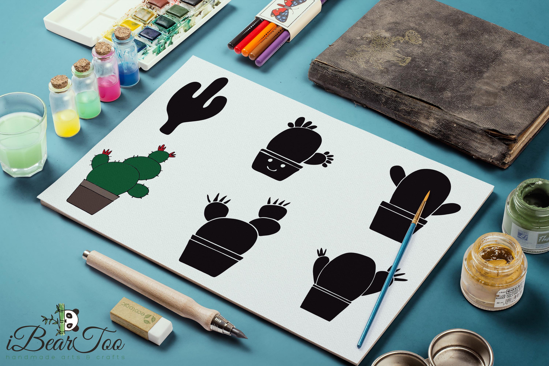 Cactus SVG Bundle Clipart Succulent Drawing Vector Cut Files example image 10