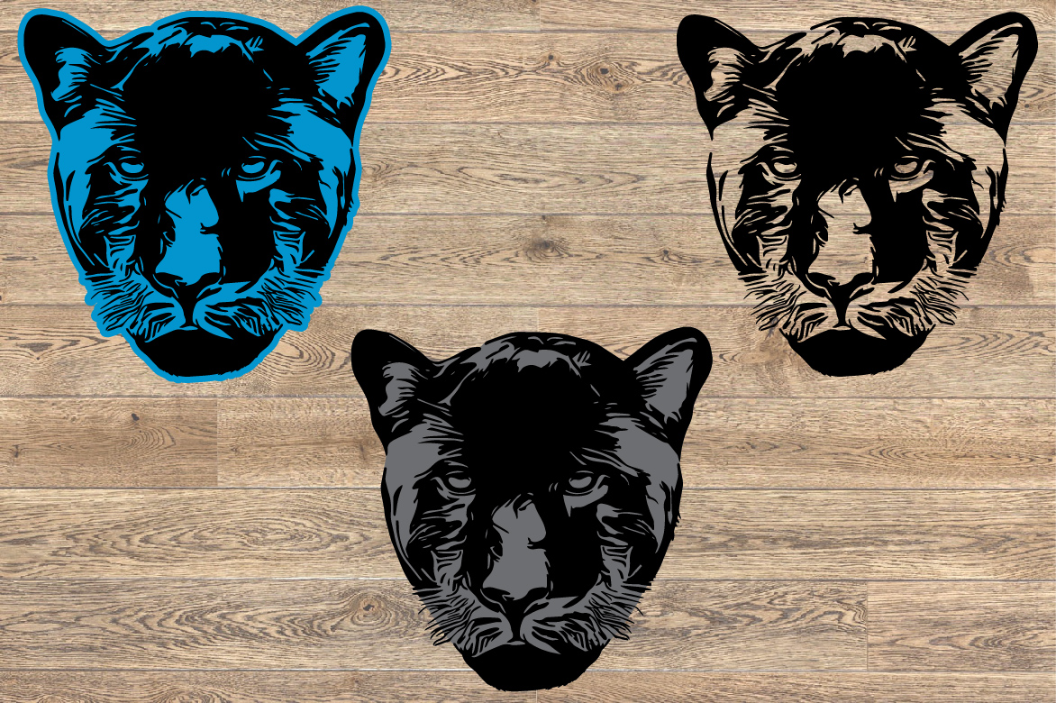 Panthers Head SVG Cutting Files Panther1057s example image 3