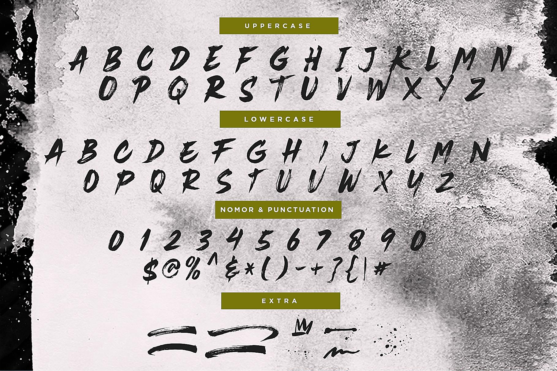 Rustix Brush font example image 7
