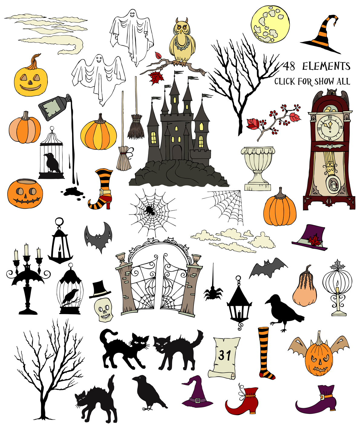 Halloween Colors Clip art example image 3