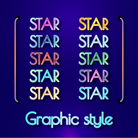 NEON Retro Graphic Styles in the style of 80s. example image 3