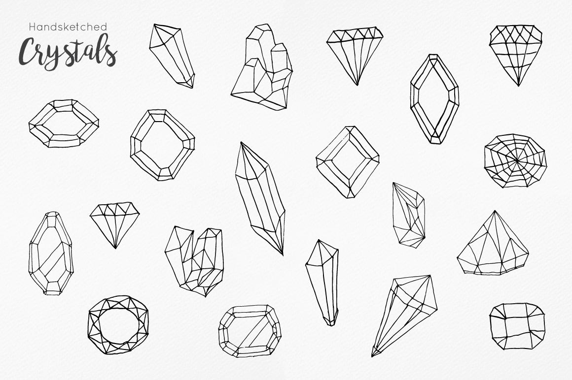 Handsketched Gemstones and Crystals example image 4
