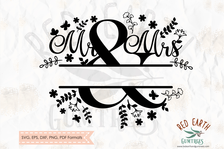 d44aa9c643a Mr & Mrs split monogram frame, wedding decal SVG,DXF,PNG,EPS