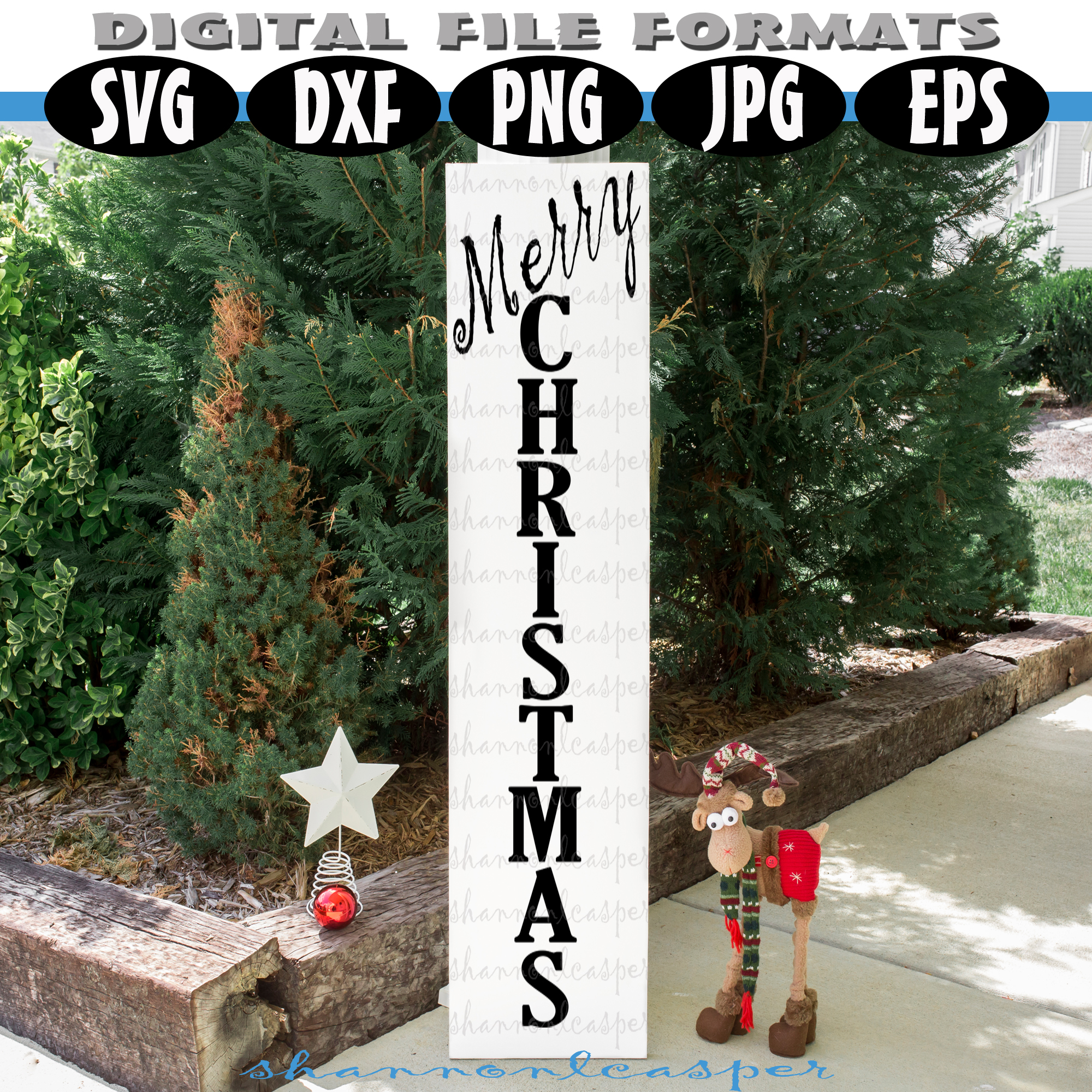 Christmas Porch Wood Sign SVG example image 2
