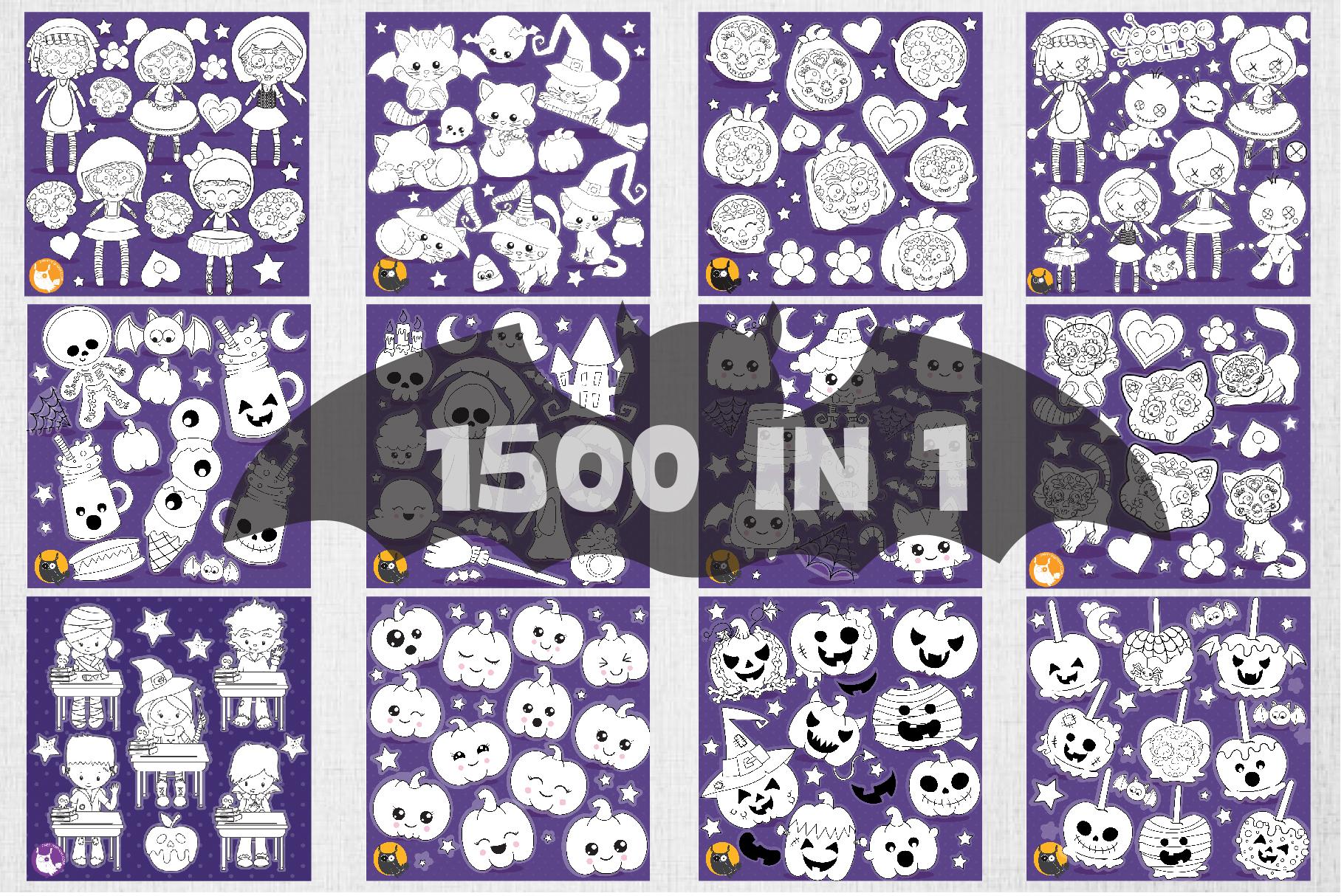 1500 Graphics - MEGA Halloween Bundle - 98OFF example image 8