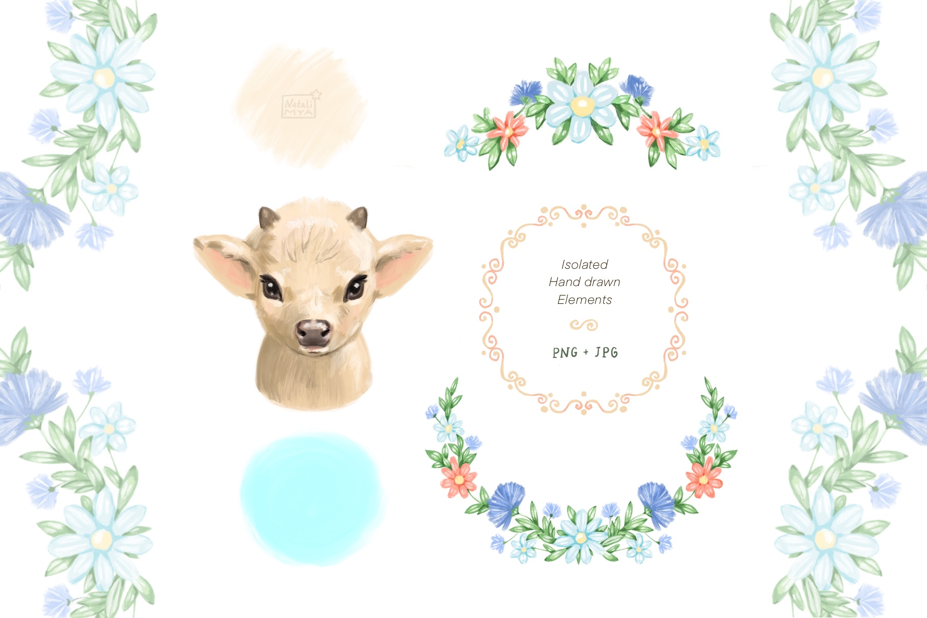 Cute cow clipart example image 2