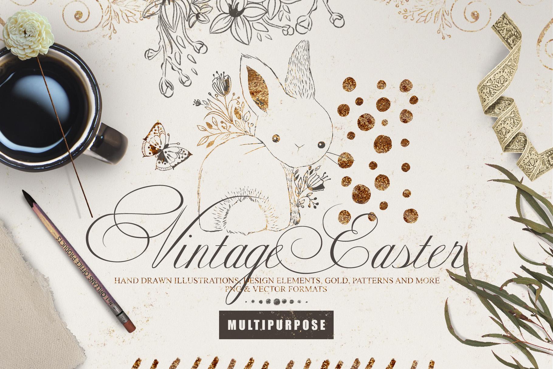Vintage Easter Multipurpose Kit example image 1