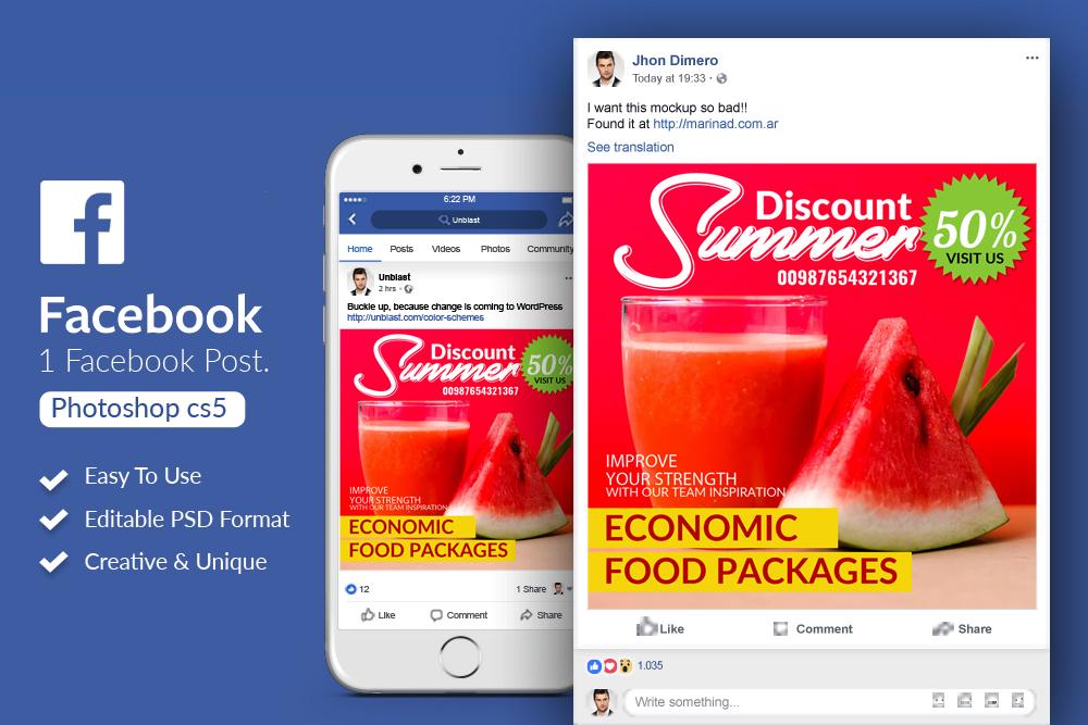 Summer Juice Package Facebook Post example image 1