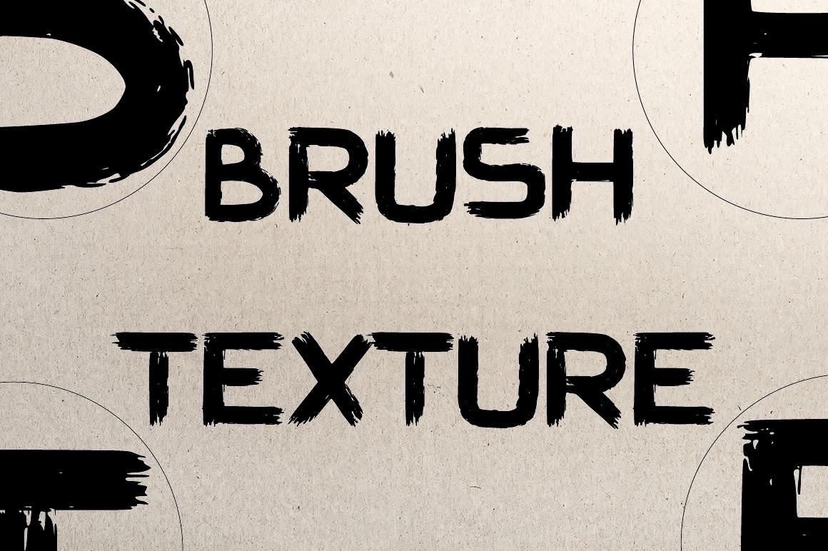 Hard Brush - bold uppercase font example image 7