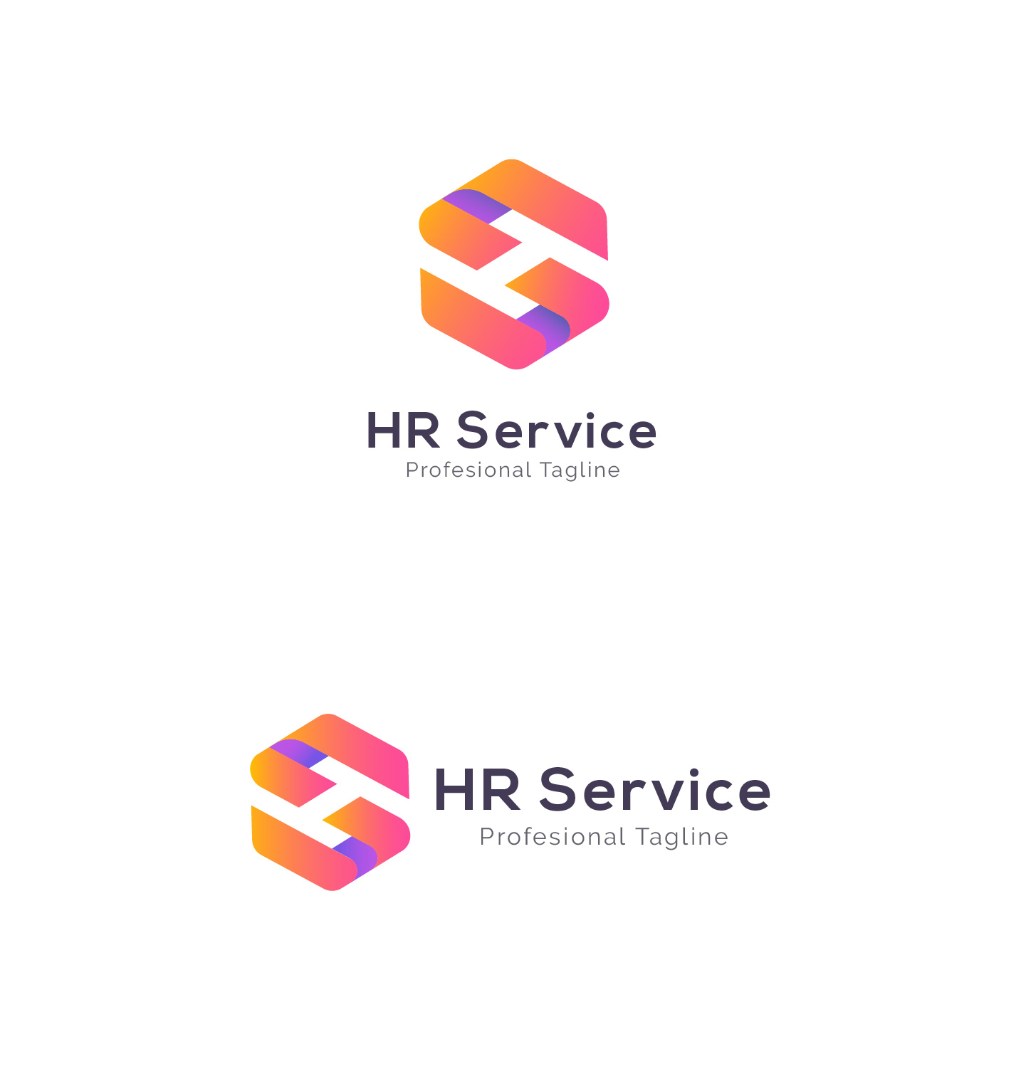 HR Service - H S Letter Logo example image 3