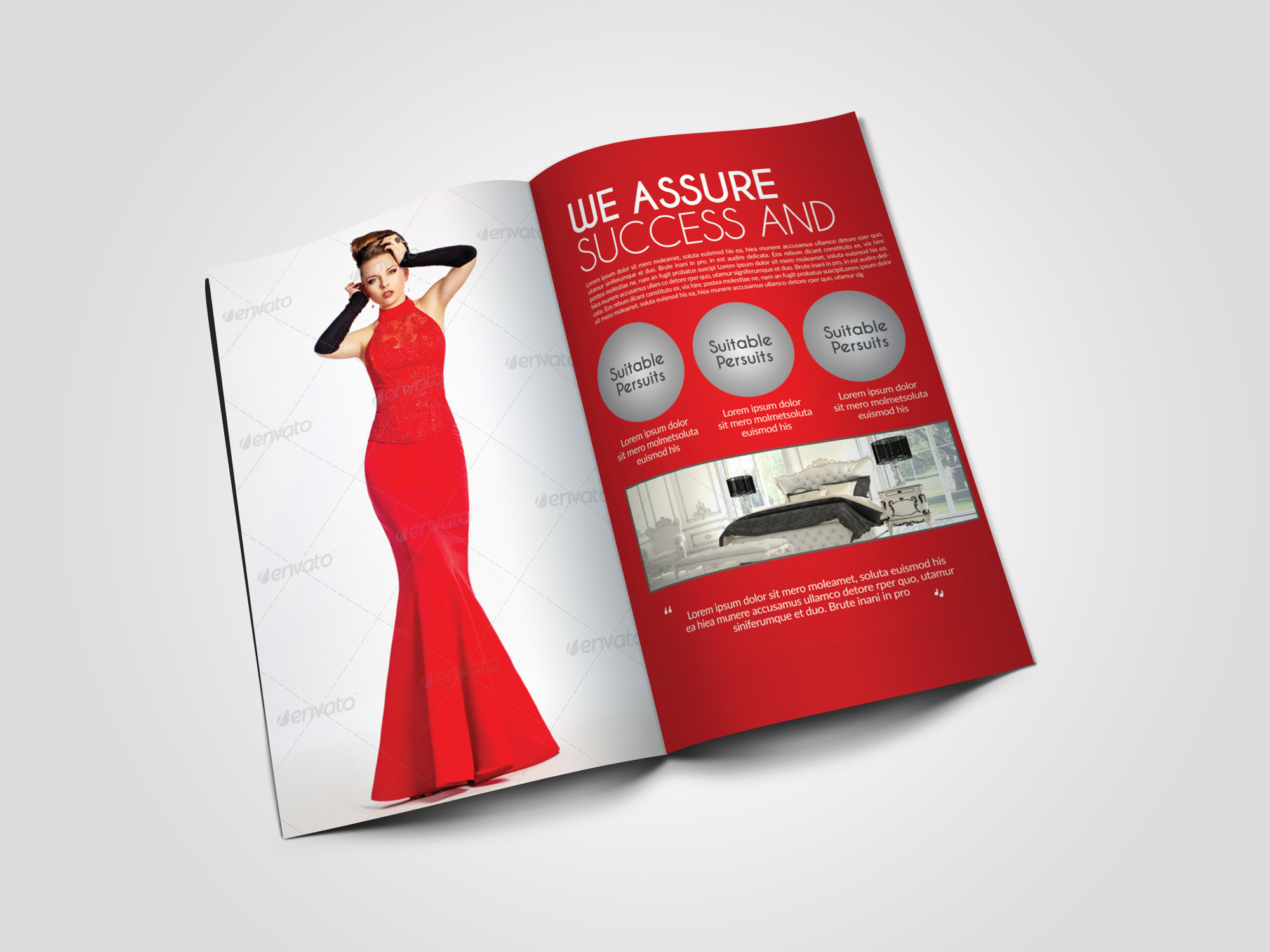12 Pages Luxury Business Bifold Brochure example image 4