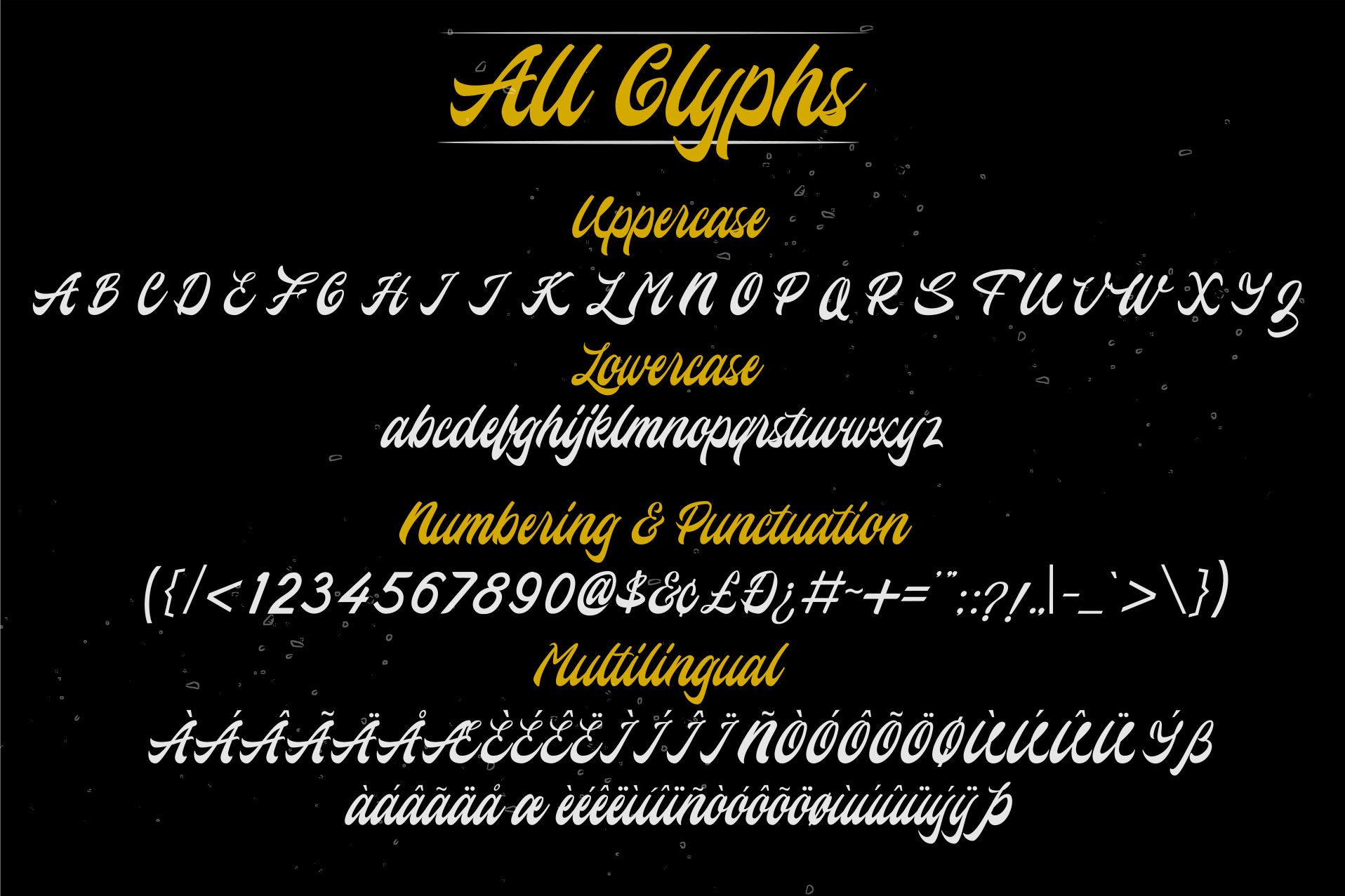 Hovercity script font example image 2
