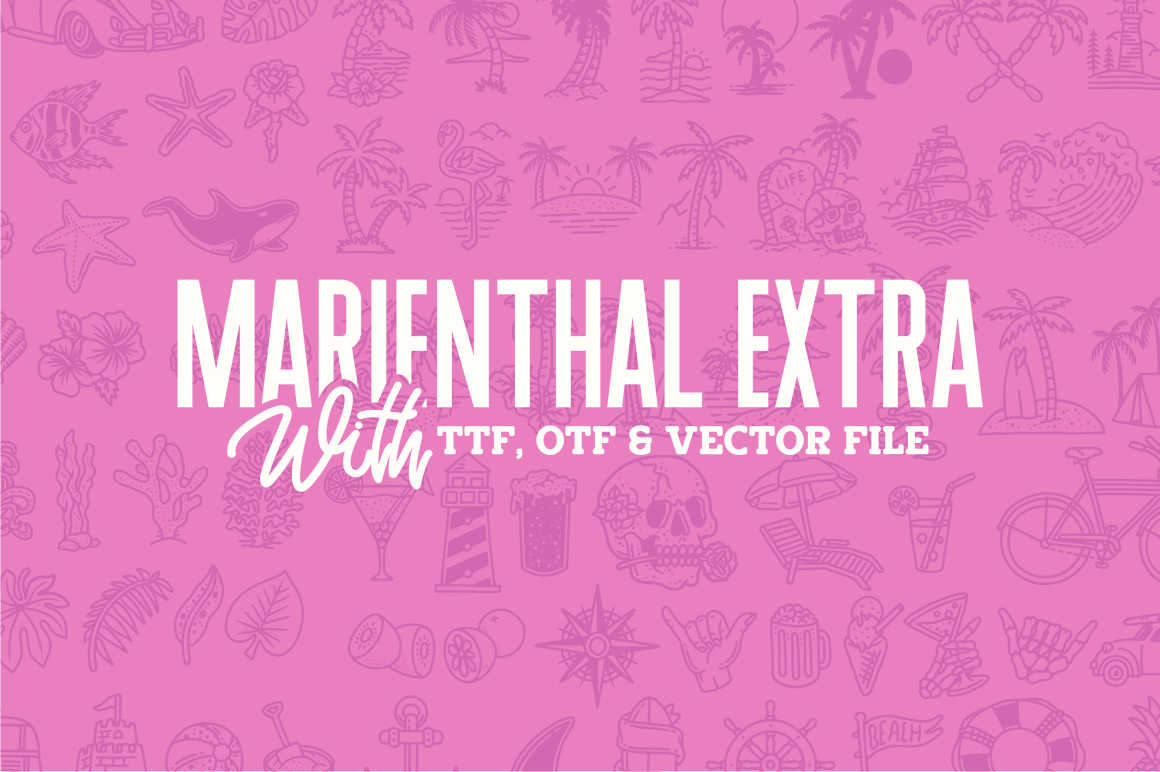 Marienthal Font Bundle Extras! example image 3
