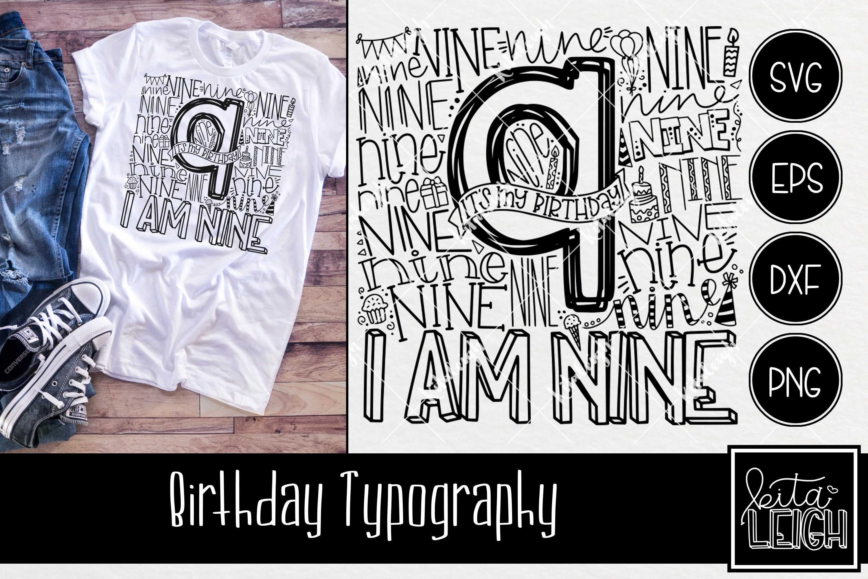 Birthday Typography Bundle example image 10