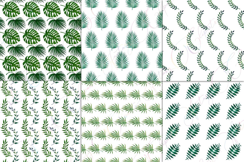 Greenery Digital Paper example image 2