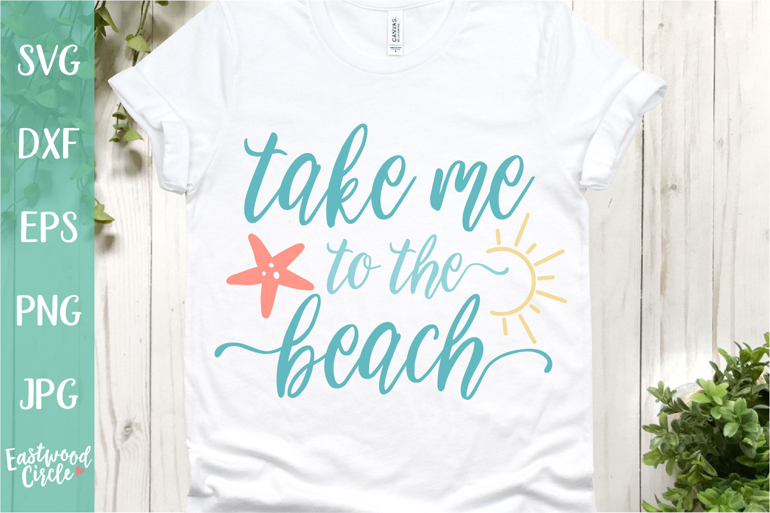 Take Me to the Beach - A Beach SVG Cut File for Crafters example image 1
