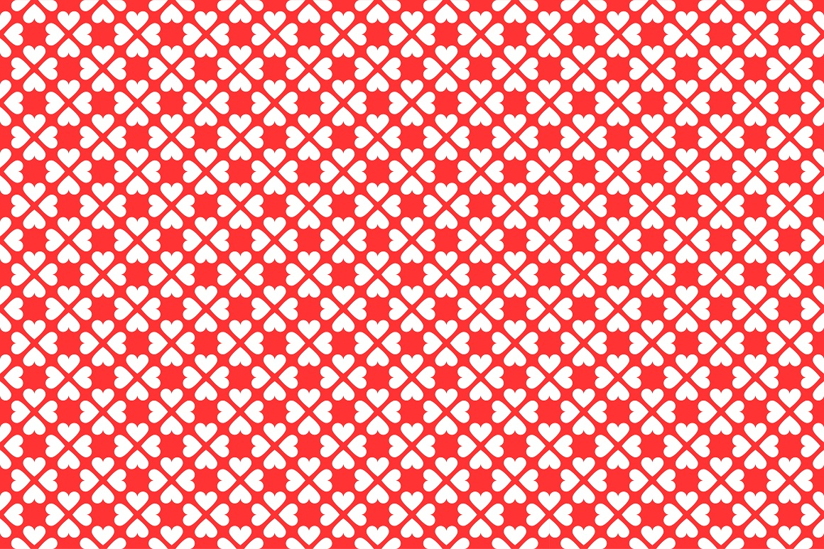 Set of seamless patterns with hearts example image 12