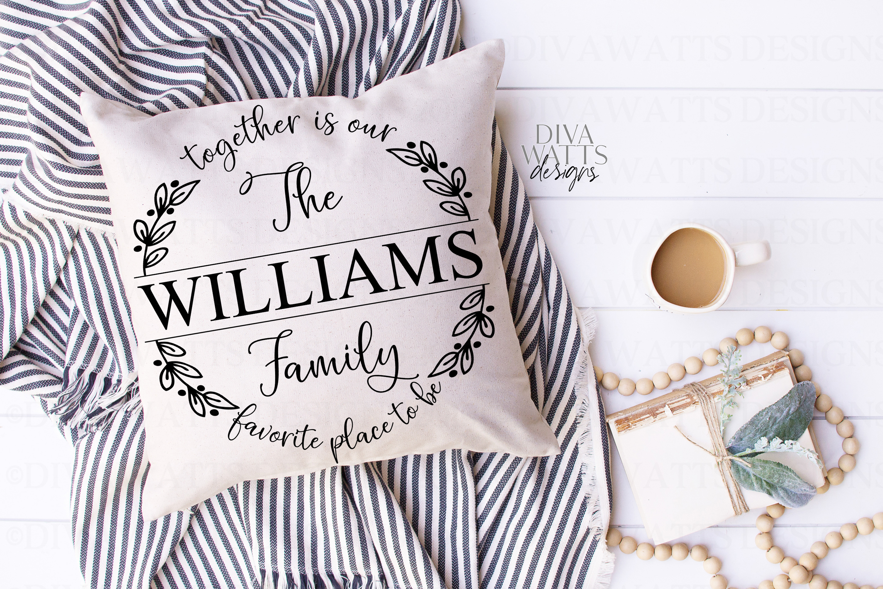Together Is Our Favorite Place To Be Family Name Sign SVG example image 3