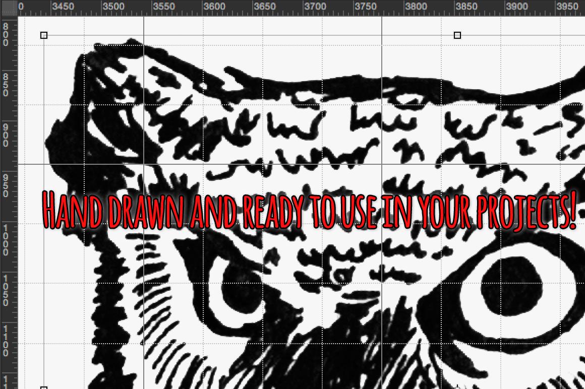 Woodland Animal Sketch Vector Bundle example image 4