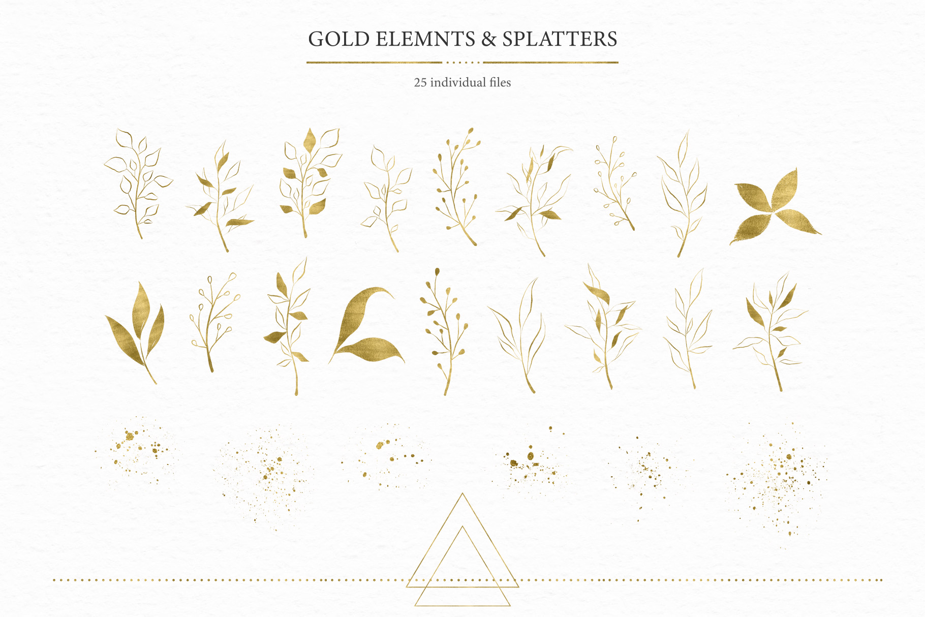 Geometrical. Gold & Watercolor Kit example image 11