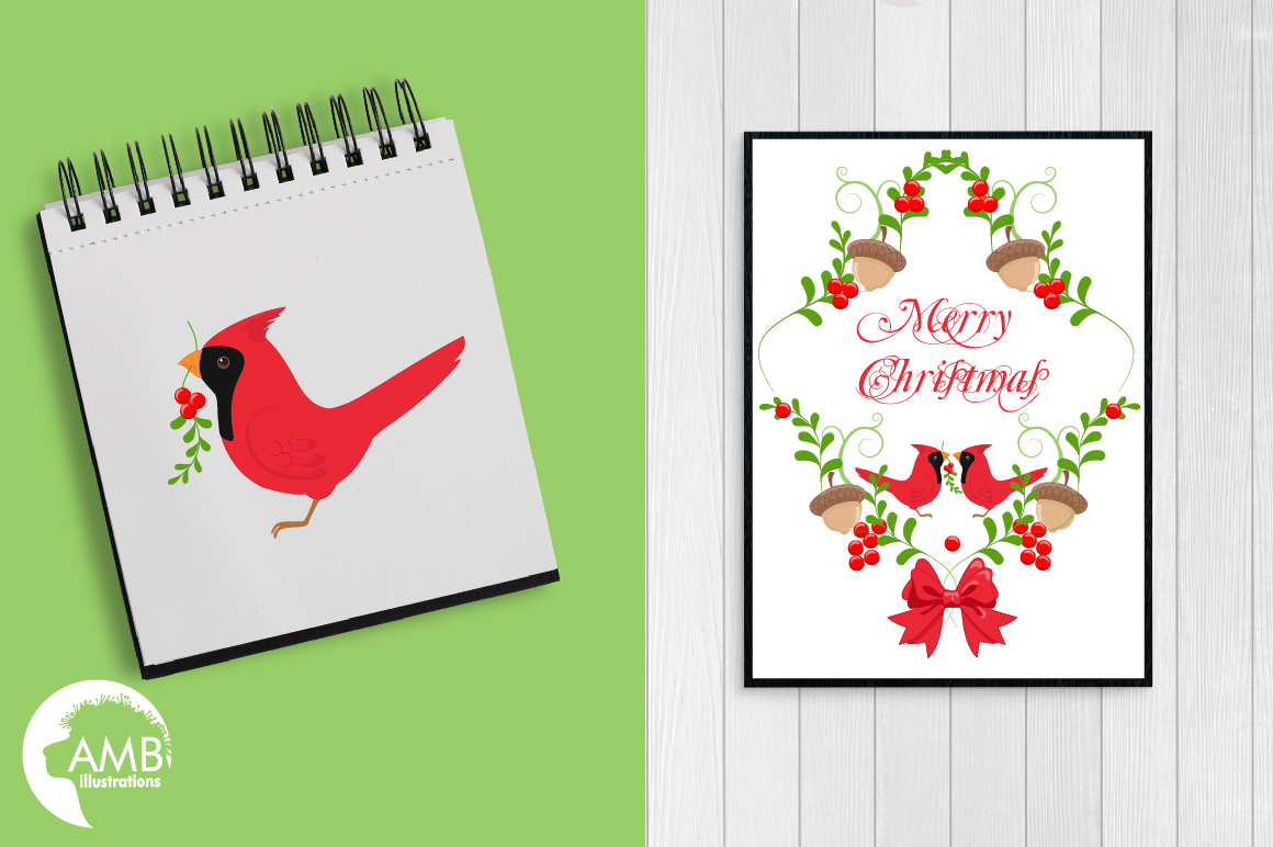 Christmas greetings embellishments, clipart, graphics, illustrations AMB-1464 example image 3